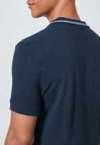 Superbalist - Luka notch neck pique golfer - navy