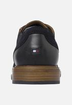 Tommy Hilfiger - Elevated material mix formal shoe - navy