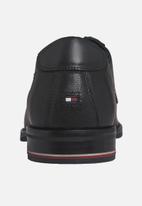 Tommy Hilfiger - Signature hilfiger leather leather shoe - black