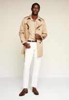 MANGO - Rung shirt - beige