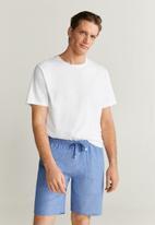 MANGO - Pyjamafi pijama set - blue & white
