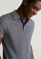 MANGO - Polo shirt pixel - navy