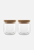 Luigi Bormioli - Stackable sugar/coffee bowl set of 2