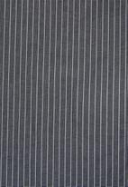 Superbalist - Jos slim fit long sleeve shirt - grey & white