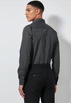 Superbalist - Jos slim fit long sleeve shirt - black & white