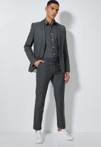 Superbalist - Jos slim fit long sleeve shirt - black & grey