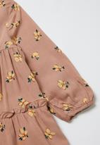 Superbalist Kids - Tiered printed dress - pink & yellow