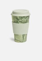 Excellent Housewares - Bamboo drinking mug - mint & green