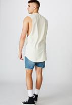 Factorie - Locals only graphic muscle tank - ivory