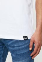 Lee  - Classic logo tee - white