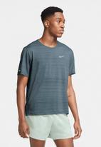 Nike - Df milner short sleeve top - blue