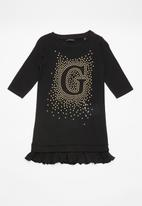GUESS - Girls printed dress - black & gold