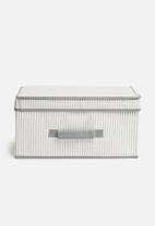 Storage Solutions - Foldable storage with lid - white