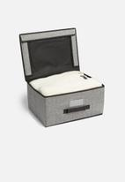 Storage Solutions - Foldable storage with lid - black