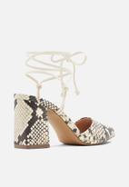Call It Spring - Mademoiselle heel - black & white