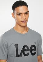 Lee  - Classic  logo tee - grey