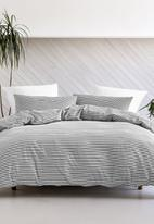 Linen House - Oria duvet cover set - graphite