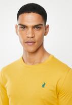 POLO - Paul plain crew neck ls T-shirt - yellow