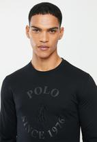 POLO - Classic chest embroidery ls T-shirt - black
