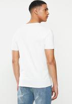 POLO - Pjc jake short sleeve printed logo tee - white