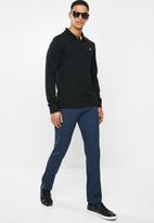POLO - Mens classic stretch pique ls golfer - black