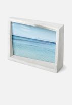 Umbra - Edge marble frame - white