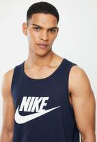 Nike - Nsw icon futura tank - navy & white