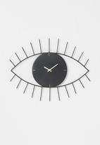 H&S - Eye clock - black