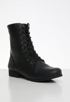 STYLE REPUBLIC - Lola lace-up boot - black