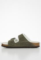 Birkenstock - Arizona suede sheepskin narrow - green