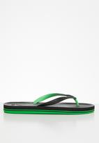 POLO - Hunter corrugated flop - black & green