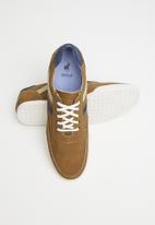 POLO - Dan pin punched vamp sneaker - brown