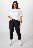 Cotton On - Curve high rise chino - washed black