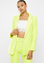 Missguided - Boyfriend blazer - lime