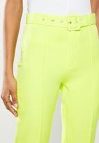 Missguided - Co ord belted cigarette pants - lime