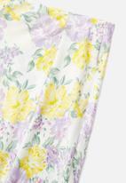 Glamorous - Petite sateen pencil skirt with slit - multi