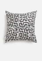 Sixth Floor - Puzzle cushion cover - black & white