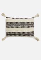 H&S - Stripe cushion - black & cream