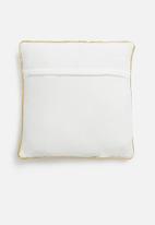 H&S - Glitter cushion - gold & white