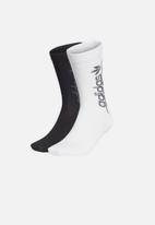 adidas Originals - Thn crew socks - white & black