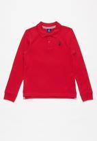 POLO - Boys Robert long sleeve golfer - red