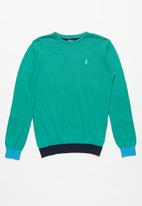 POLO - Boys Jason colour blocked pullover - green