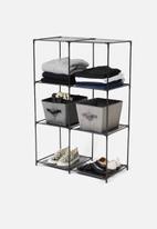 Sixth Floor - Storage shelf 6 compartments - black