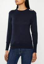 ONLY - Cecilia long sleeve pullover - night sky