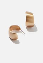 Rubi - Brianna matte curve hoop bar  - gold