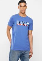 G-Star RAW - Raw text slim fit short sleeve tee - blue