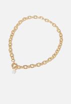 Rubi - Bonnie pearl drop necklace - gold