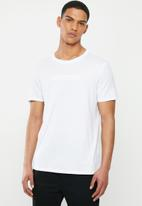 GUESS - Pima embroidered short sleeve tee - white