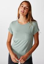 Cotton On - Kathleen short sleeve top - chinois green