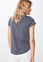 Cotton On - Kathleen short sleeve top - moonlight burnout